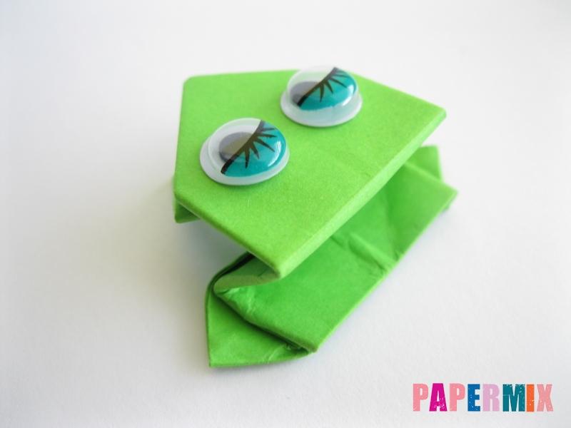 Как сделать прыгающую лягушку из бумаги своими руками - шаг 19