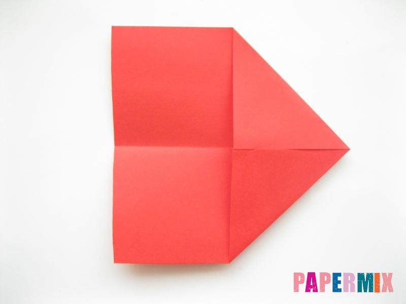 Как сделать рыбу из бумаги (оригами) инструкция - шаг 2