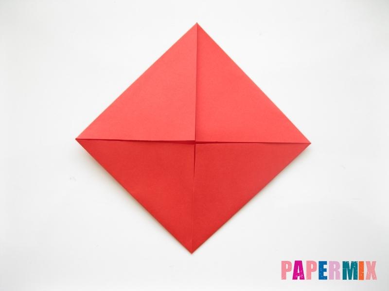 Как сделать рыбу из бумаги (оригами) инструкция - шаг 3
