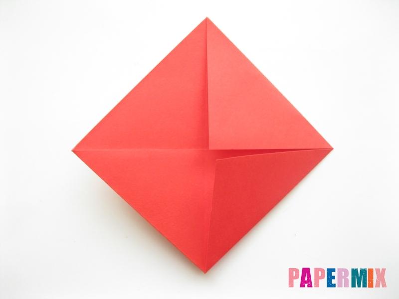 Как сделать рыбу из бумаги (оригами) инструкция - шаг 4