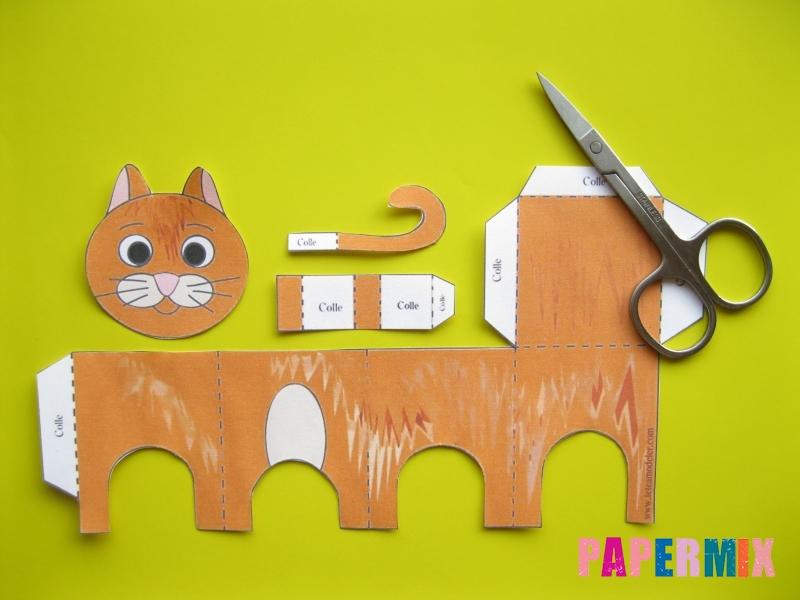 Как сделать рыжего котенка по шаблону из бумаги - шаг 1