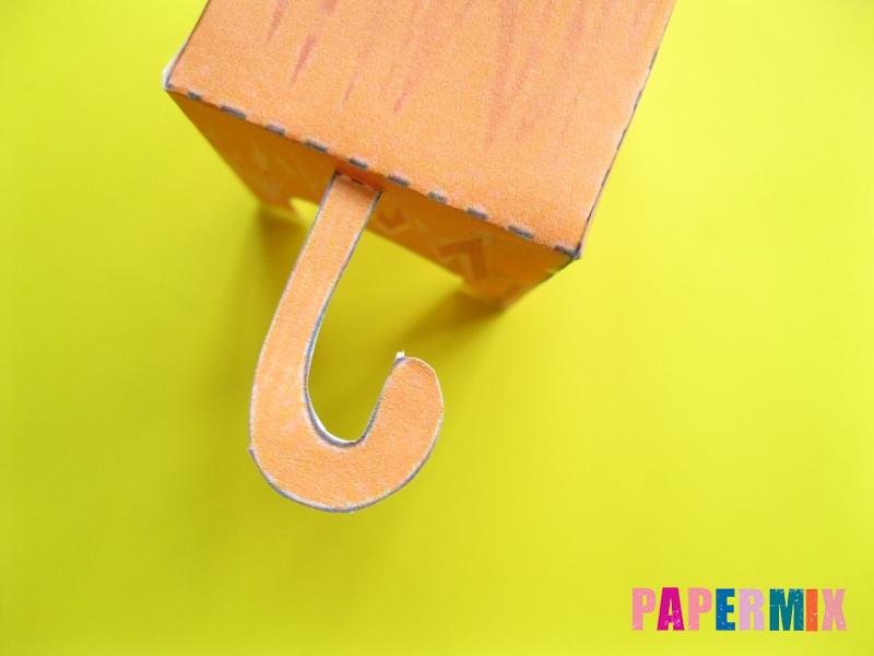 Как сделать рыжего котенка по шаблону из бумаги - шаг 10