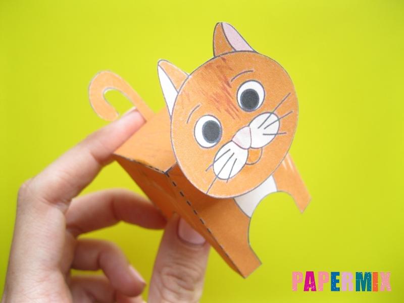 Как сделать рыжего котенка по шаблону из бумаги - шаг 11
