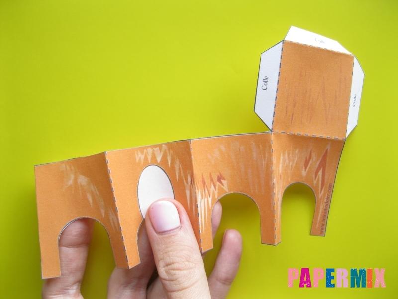 Как сделать рыжего котенка по шаблону из бумаги - шаг 2