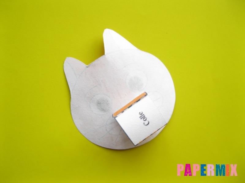 Как сделать рыжего котенка по шаблону из бумаги - шаг 6