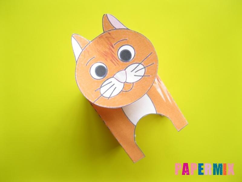 Как сделать рыжего котенка по шаблону из бумаги - шаг 7