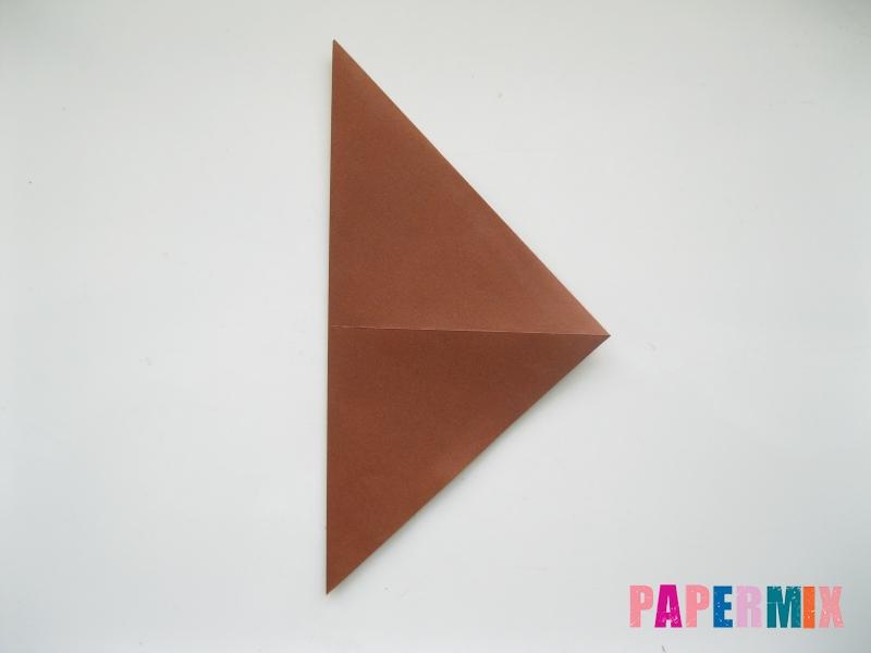 Как сделать сову из бумаги (оригами) поэтапно - шаг 2