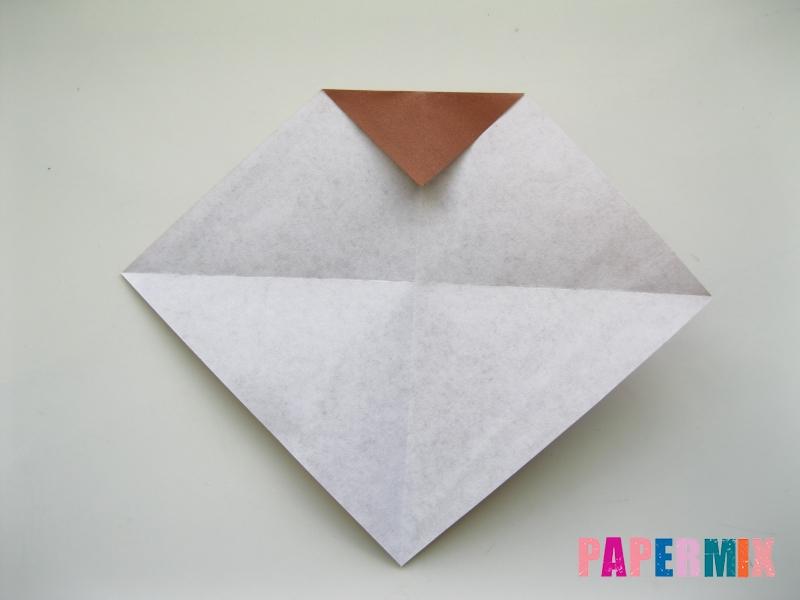 Как сделать сову из бумаги (оригами) поэтапно - шаг 3