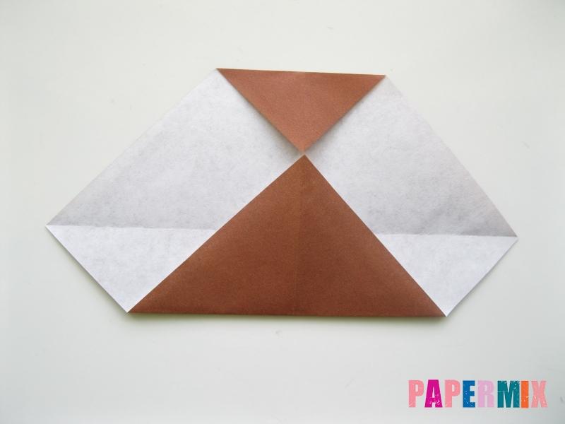 Как сделать сову из бумаги (оригами) поэтапно - шаг 4