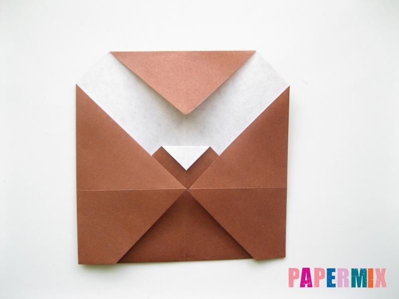 Как сделать сову из бумаги (оригами) поэтапно - шаг 6
