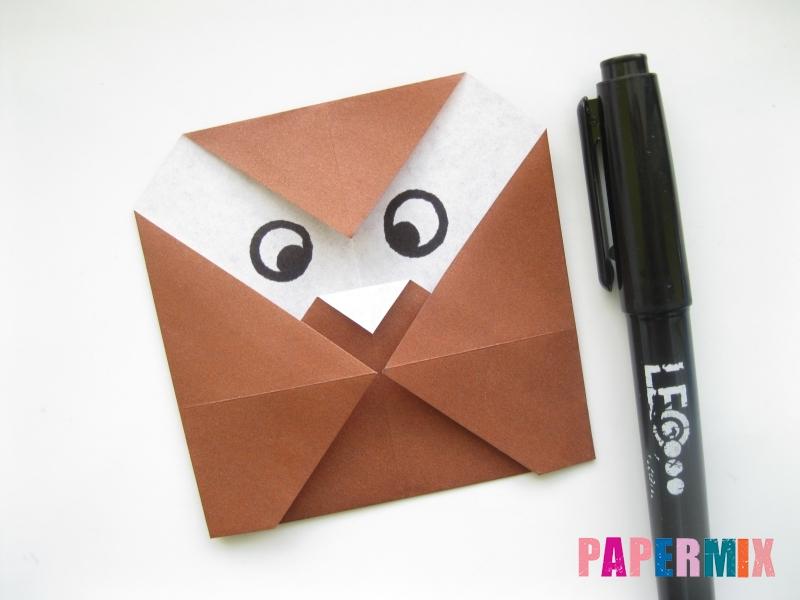 Как сделать сову из бумаги (оригами) поэтапно - шаг 7