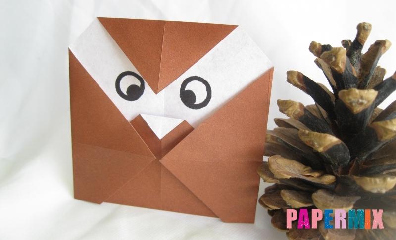 Как сделать сову из бумаги в технике оригами своими руками поэтапно