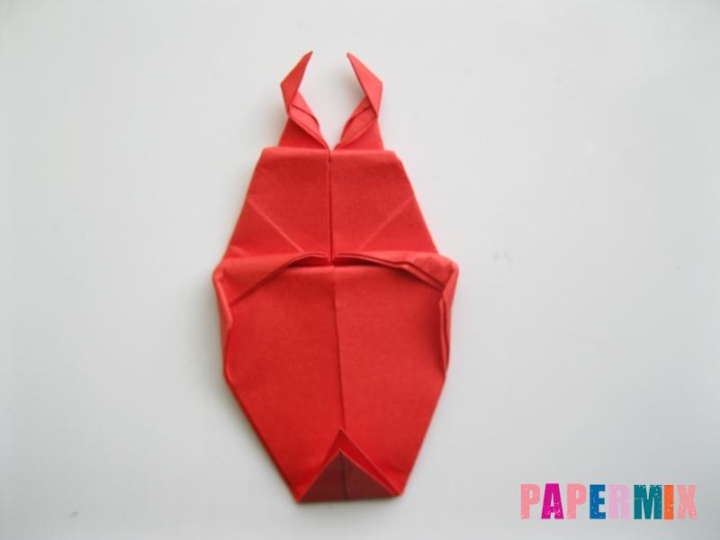 Как сделать жука из бумаги (оригами) инструкция - шаг 12