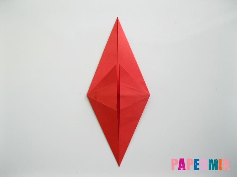 Как сделать жука из бумаги (оригами) инструкция - шаг 5