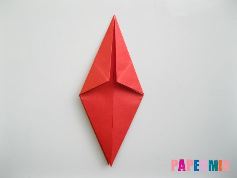 Как сделать жука из бумаги (оригами) инструкция - шаг 7