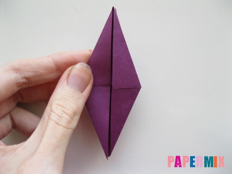 Как сделать журавлика из бумаги пошаговая инструкция - шаг 10