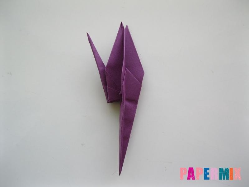 Как сделать журавлика из бумаги пошаговая инструкция - шаг 15