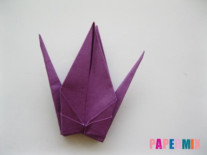 Как сделать журавлика из бумаги пошаговая инструкция - шаг 16
