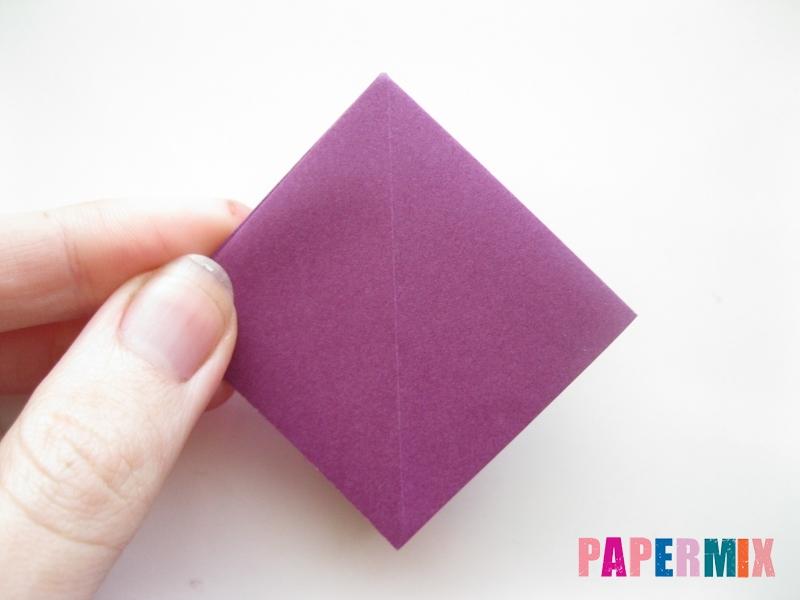 Как сделать журавлика из бумаги пошаговая инструкция - шаг 3