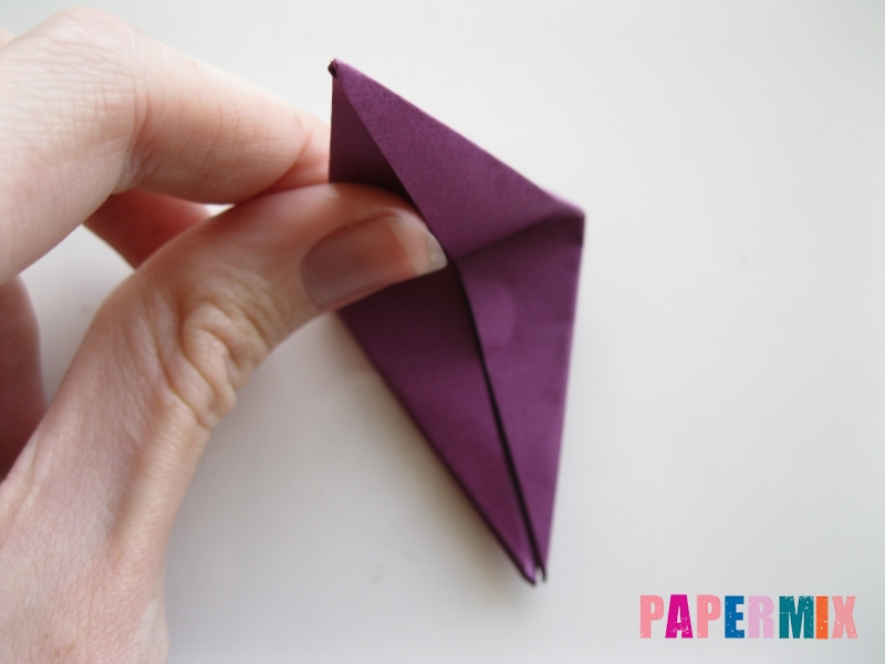 Как сделать журавлика из бумаги пошаговая инструкция - шаг 6