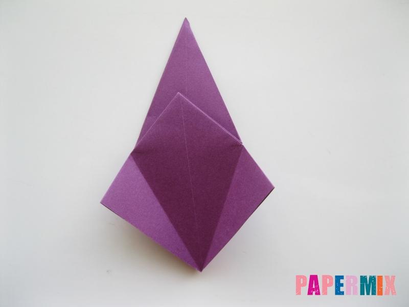 Как сделать журавлика из бумаги пошаговая инструкция - шаг 9