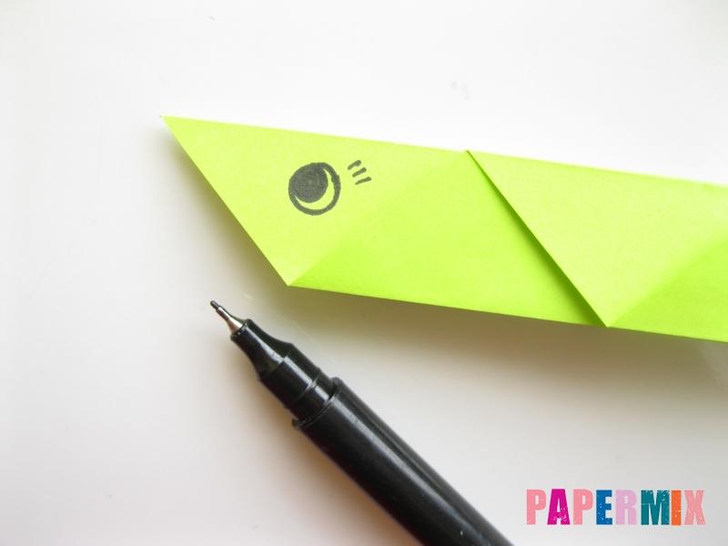 Как сделать змею из бумаги (оригами) поэтапно - шаг 10