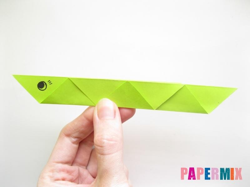 Как сделать змею из бумаги (оригами) поэтапно - шаг 11