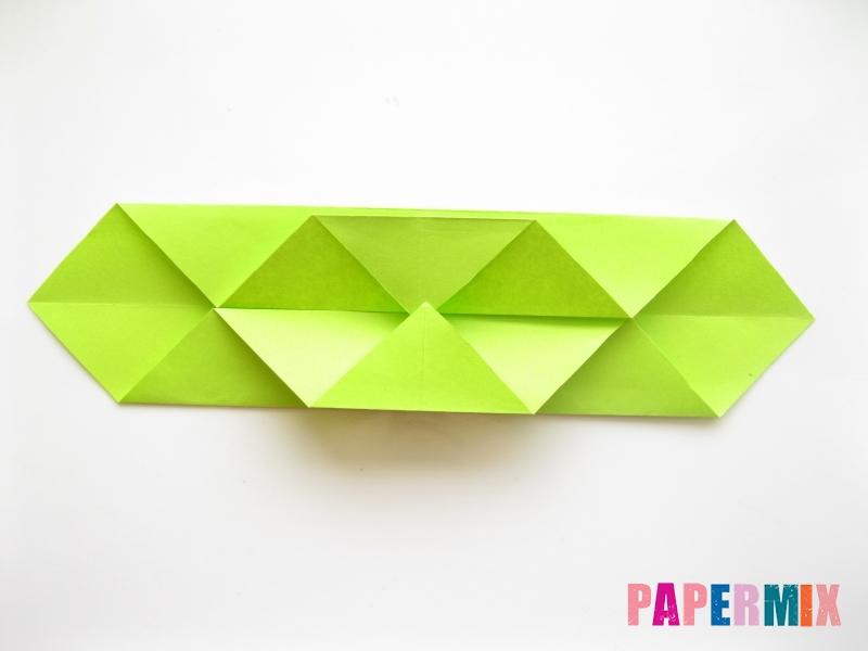 Как сделать змею из бумаги (оригами) поэтапно - шаг 8