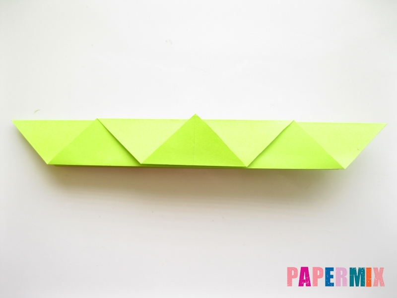 Как сделать змею из бумаги (оригами) поэтапно - шаг 9